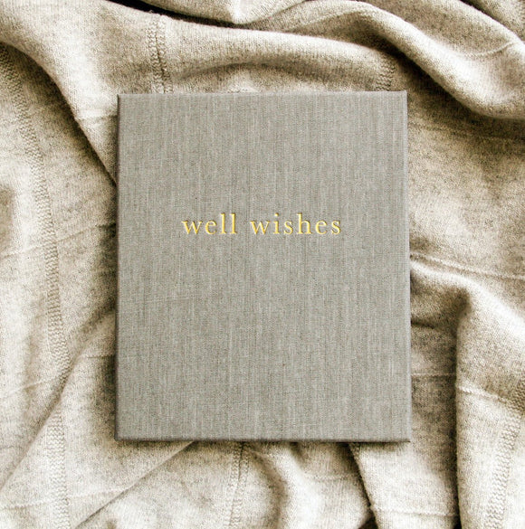 Guest Book - Well Wishes - Grey