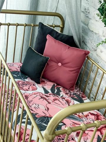 Cot Sheet - Organic Perfect Peonie