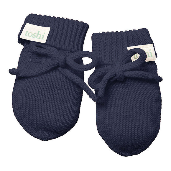 Toshi Baby Mittens - Organic Marley - Midnight