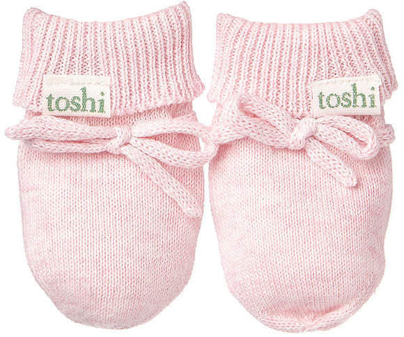 Toshi Baby Mittens - Organic Marley - Blossom
