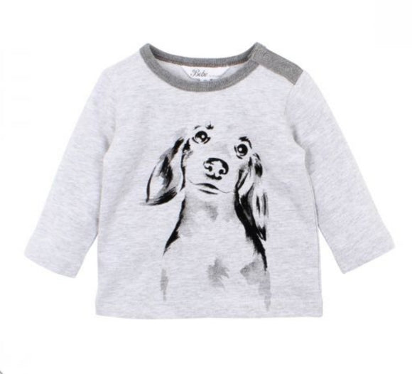 Bebe - Will Dachshund Tee - Cloud
