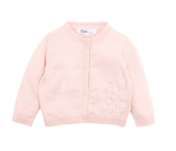 Bebe - Penny Embroidered Cardigan - Soft Pink