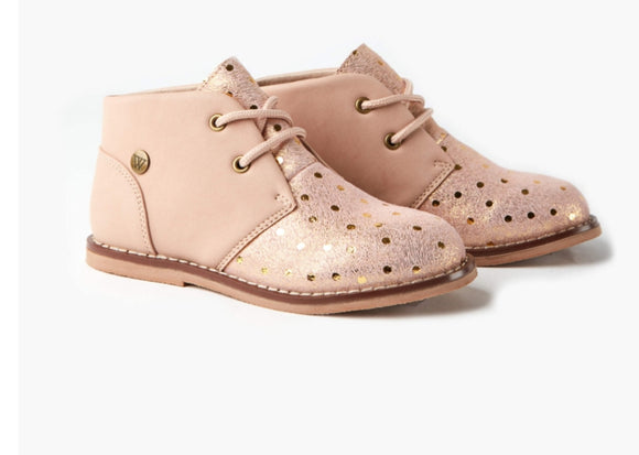 Walnut Beau Boot - Dusty Pink Spot
