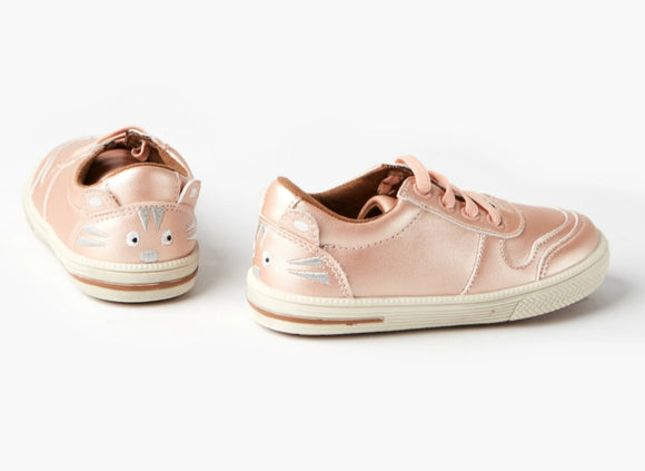 Walnut Sammy Sneaker - Rose Gold