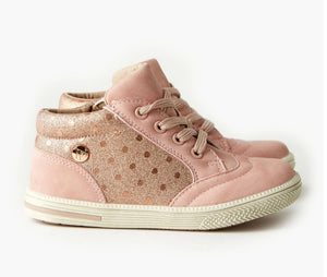 Walnut Storm Sneaker - Dusty Pink Spot