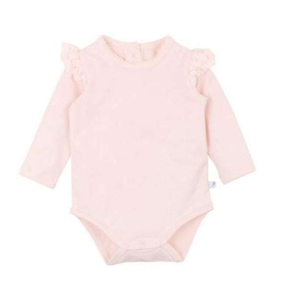 Fox & Finch - Netting Ruffle Body Suit - Pink