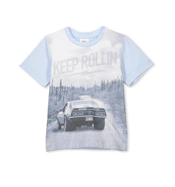 Milky - Keep Rollin Tee - Ice Blue