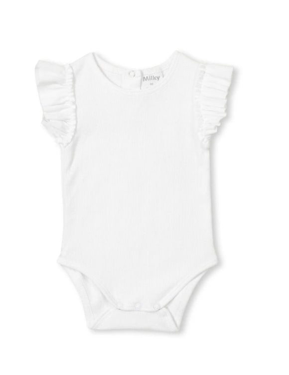 Milky - White Rib Bubbysuit