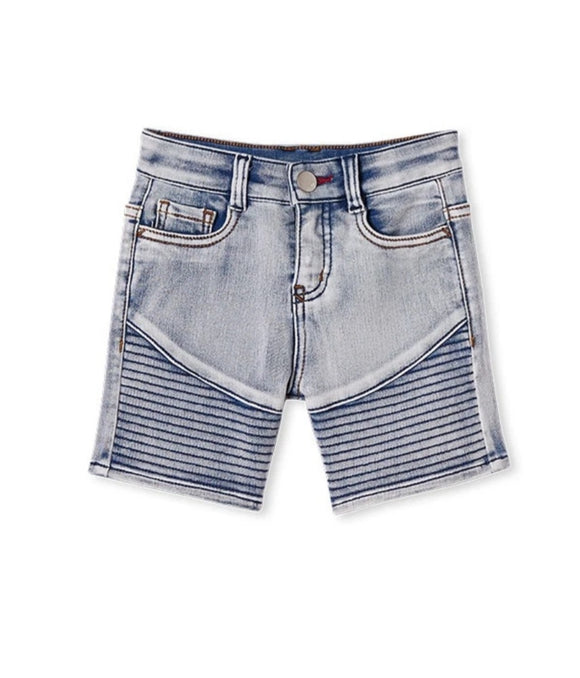 Milky - Knit Denim Shorts