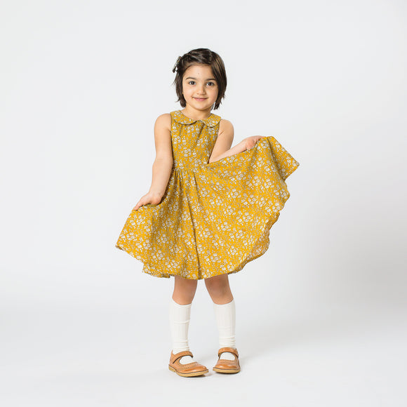 Pretty WIld Kids - Maria Dress - Mustard Capel