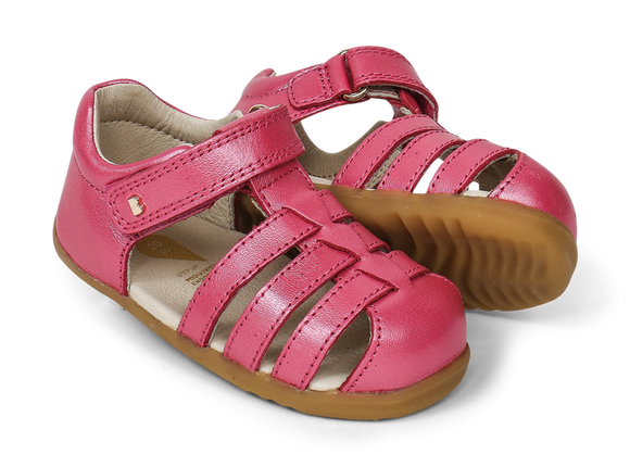 Bobux - Step Up - Jump Sandal - Strawberry Shimmer