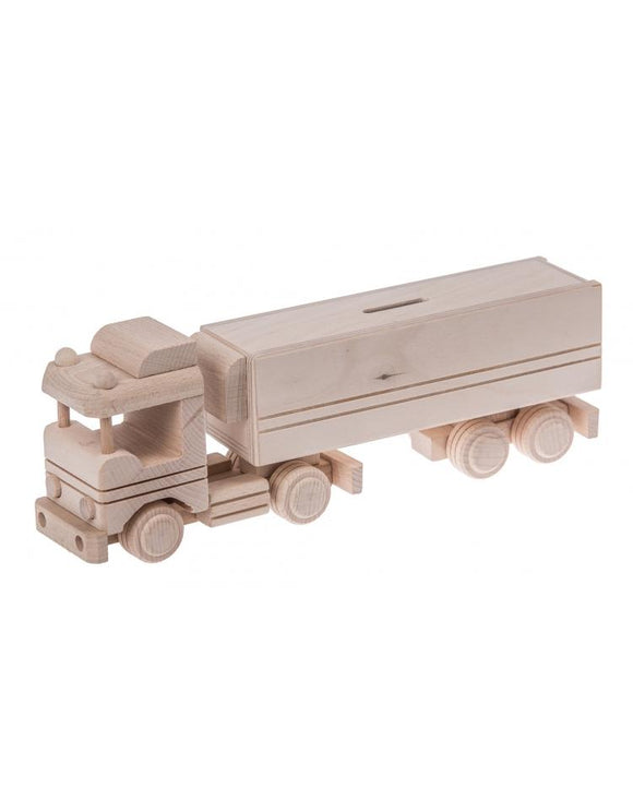 Handmade Wooden Truck Money Box