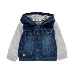 Boboli - Soft Denim Hooded Jacket