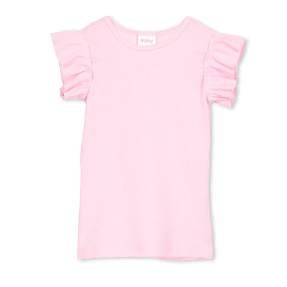 Milky - Girls - Basic Tee - Candy Pink