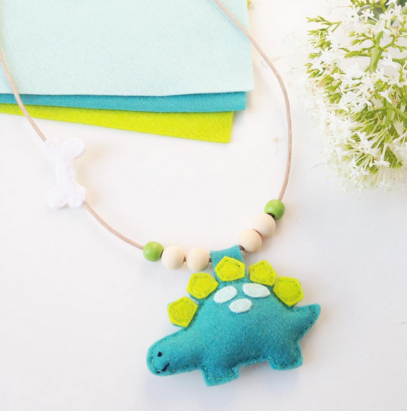 Cherished Dinosaur Necklace - Stegosaurus