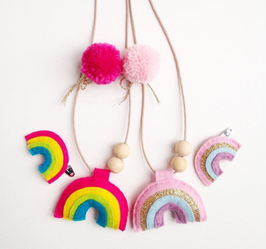 Cherished Rainbow Hairclip/Necklace