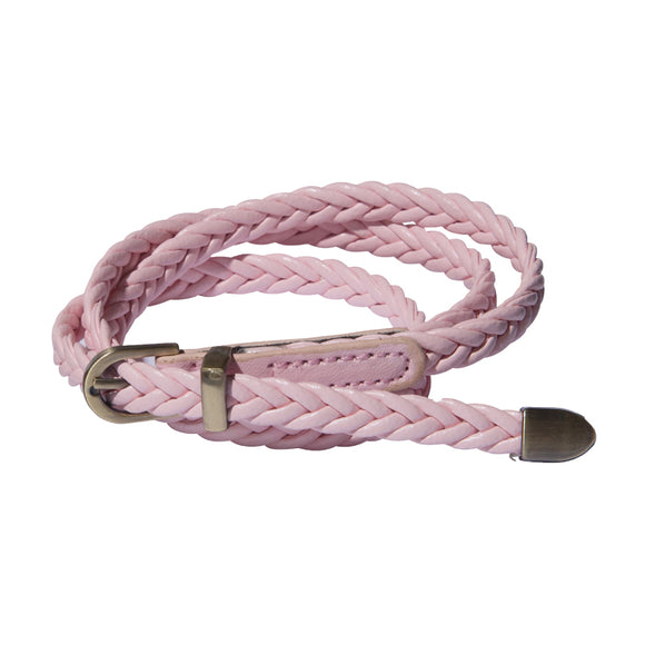 Plaited Belt - Pink