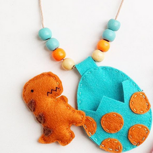 Cherished Dinosaur Necklace - Hatching T-Rex