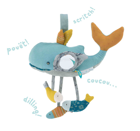 Moulin Roty - Le Voyage d'Olga – Josephine Whale Activity Toy
