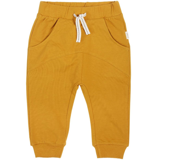 Miles Baby - Mustard Jersey Joggers