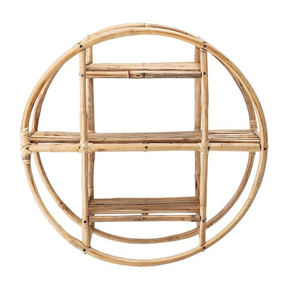 Sia Circular Cane Wall Shelf