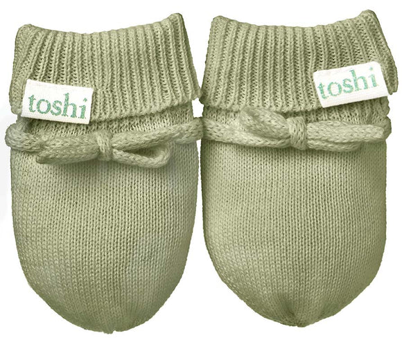 Toshi Baby Mittens - Organic Marley - Sage