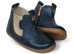 Bobux - Step Up - Jodphur Boot - Navy Shimmer