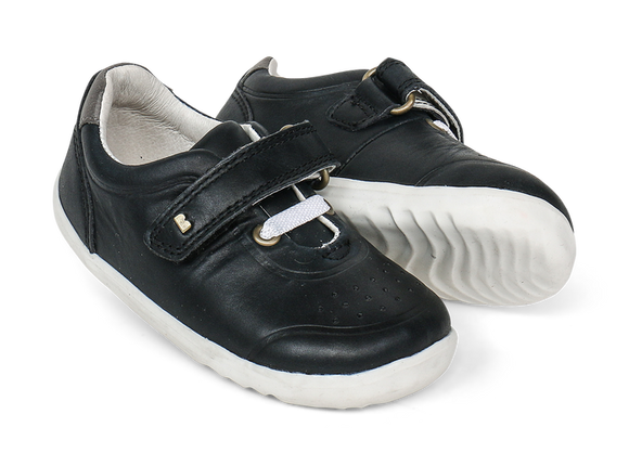 Bobux - Step Up - Ryder Trainer - Black/Charcoal