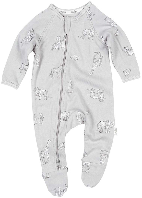 Toshi - Double Zip Onesie - Zoology