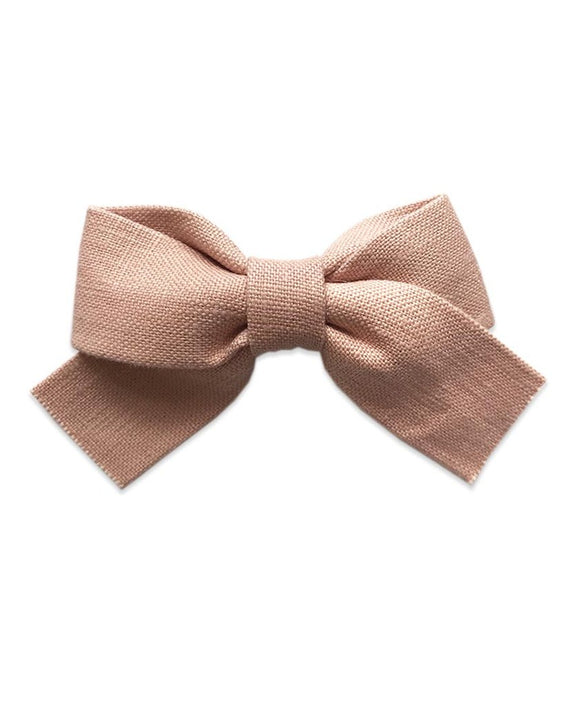 Pretty WIld Kids - Belle Bow Hair Clip - Blush Linen