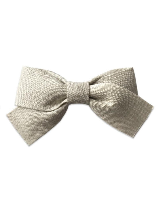 Pretty WIld Kids - Belle Bow Hair Clip - Natural Linen