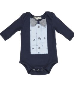 Arthur Ave - Bike Bowtie Long Sleeve Onesie