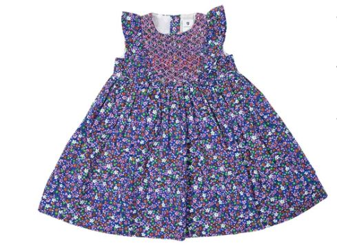 Korango - Blue Floral Party Dress