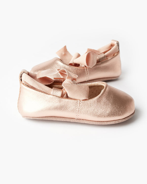 Walnut Baby - Soft Sole - Bonnie Leather Ballet - Rose Gold