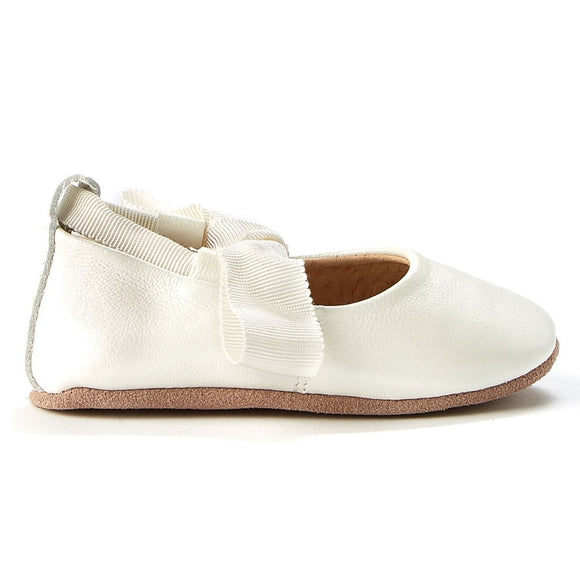 Walnut Baby - Soft Sole - Bonnie Leather Ballet - White Pearl