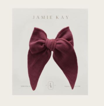 Jamie Kay - Flourish - Organic Cotton Muslin Bow - Grape