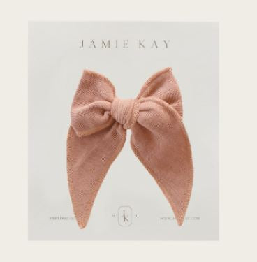 Jamie Kay - Flourish - Organic Cotton Muslin Bow - Sunset