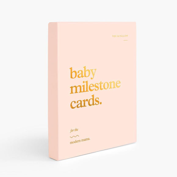 Baby Milestone Cards - Cream