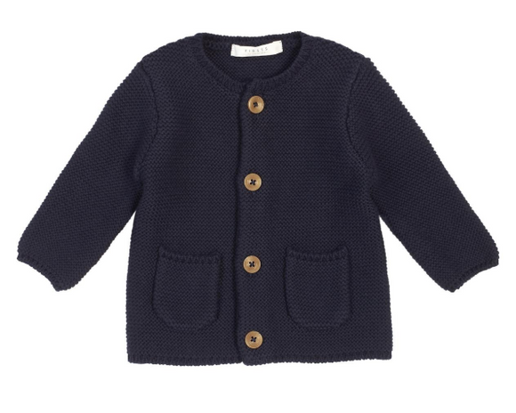 Firsts by Petit Lem - Cardigan - Navy