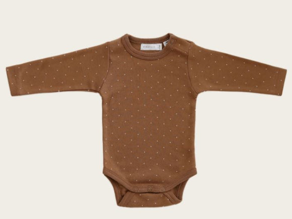 Jamie Kay - Whimsy Collection - L/S Bodysuit - Tiny Dots