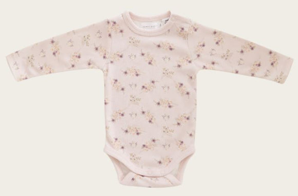 Jamie Kay - Whimsy Collection - L/S Bodysuit - Sweet Pea Floral