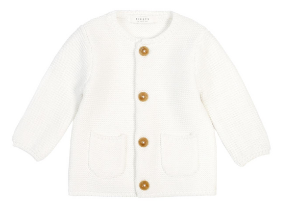 Firsts by Petit Lem - Cardigan - White