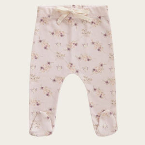 Jamie Kay - Whimsy Collection - Footed Pant - Sweet Pea Floral