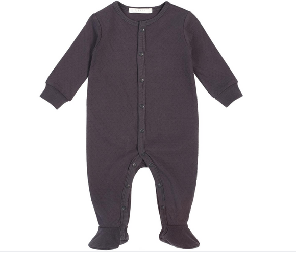 Firsts by Petit Lem - Dimple Onesie - Charcoal