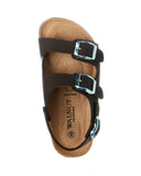 Walnut Congo Sandalia - Tan Black