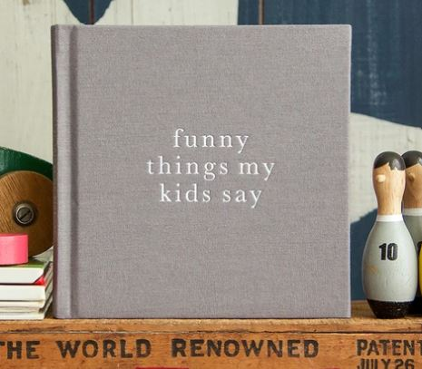 Write to Me - Funny Things My Kids Say - Grey