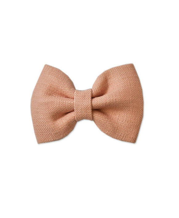 Pretty WIld Kids - Georgie Bow Hair Clip - Blush Linen