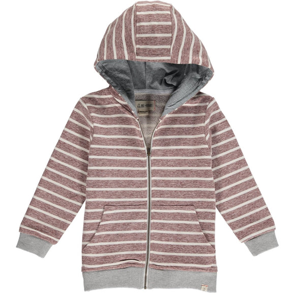 Me & Henry - Wine Striped Hooded Sweat