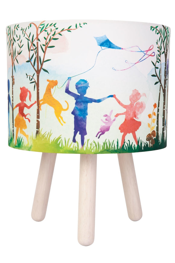 Table Lamp - In the Woods Colourful Fabric
