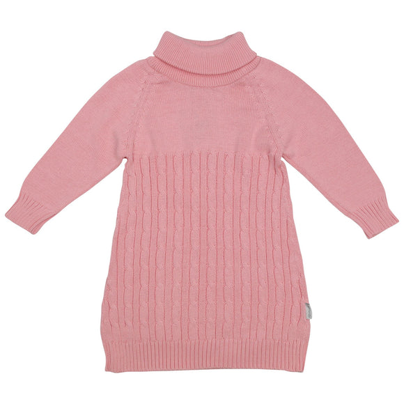 Korango Hearts Cable Knit Dress - Pink